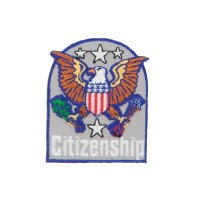 Patch - Blue Grey USA Government Embroidered Patch