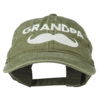 Embroidered Cap - Mustache Embroidered Dyed Cap | Free Shipping | e4Hats.com