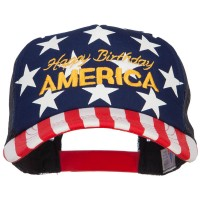 Embroidered Cap - Flag 4th of July Embroidered Flag Cap