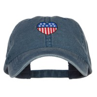 Embroidered Cap - Patriotic USA Heart Washed Cap   Free Shipping   e4Hats.com