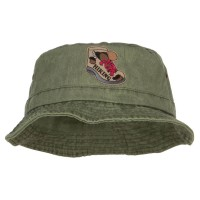 Bucket - Hiking Shoes Patched Bucket Hat | Free Shipping | e4Hats.com