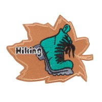 Patch - Khaki Hiking Embroidered Patches