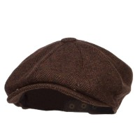 Newsboy - Brown Men's Herringbone Wool Newsboy | Coupon Free | e4Hats.com