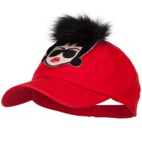 Ball Cap - Red Fur Hair Lady Baseball Cap