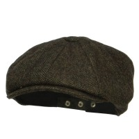 Newsboy - Green Men's Herringbone Wool Newsboy | Coupon Free | e4Hats.com