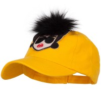 Ball Cap - Yellow Fur Hair Lady Baseball Cap