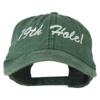Embroidered Cap - Dark Green Golf 19th Hole Embroidered Cap