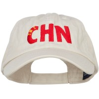Embroidered Cap - China CHN Flag Embroidered Low Profile Cap