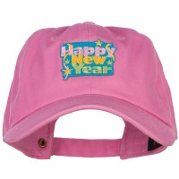 Embroidered Cap - Happy New Year Patched Unstructured Cap