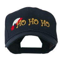 Embroidered Cap - Navy Christmas Ho Ho Embroidery Cap