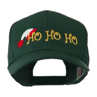 Embroidered Cap - Green Christmas Ho Ho Embroidery Cap