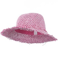 Dressy - Pink White Girl's Toyo Hat Criss Cross