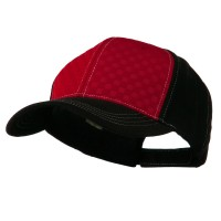Ball Cap - Red Black Hipster Two Tone Ball Cap