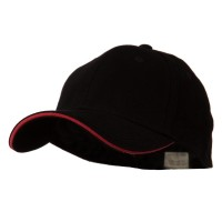 Ball Cap - Black Red Heavy Weight Fitted Cap