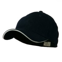 Ball Cap - Navy White Heavy Weight Fitted Cap