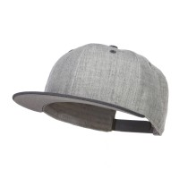 Ball Cap - H. Black Grey Flat Bill Snapback Two Tone Cap