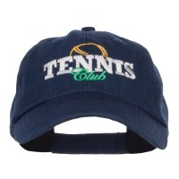 Embroidered Cap - Tennis Club Embroidered Cap | Free Shipping | e4Hats.com