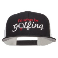 Embroidered Cap - I'd Rather Be Golfing Mesh Cap | Free Shipping | e4Hats.com