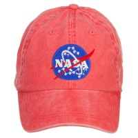 Embroidered Cap - Red NASA Insignia Washed Cap