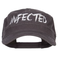 Cadet - Charcoal Grey Infected Embroidered Army Cap