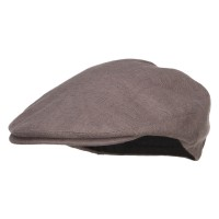 Ivy - Charcoal Big Size Men's Linen Ivy Cap