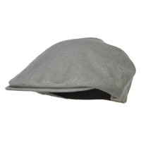 Ivy - Slate Grey Big Size Men's Linen Ivy Cap