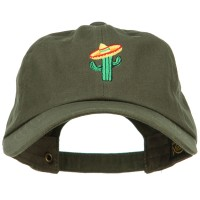 Embroidered Cap - Cactus with Sombrero Embroidery Cap