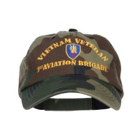 Embroidered Cap - Camo Vietnam Veteran Embroidered Cap