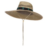 Outdoor - Palm Black Designed B, Straw Hat