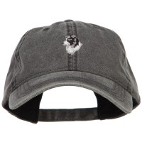 Embroidered Cap - Border Collie Head Embroidered Washed Cap | Free Shipping | e4Hats.com