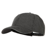 Ball Cap - Black Big Size Washed Pigment Dyed Cap