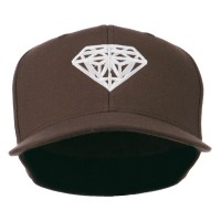 Embroidered Cap - Brown Diamond Logo Fitted Youth Cap