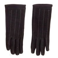 Glove - Black Women's Leather Texting Gloves