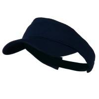 Visor - Navy Athletic Jersey Mesh Sports Visor