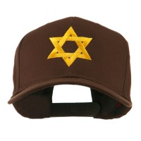 Embroidered Cap - Brown Jewish Star Embroidered Cap