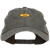 Embroidered Cap - Shaking Hands Embroidered Cap   Free Shipping   e4Hats.com