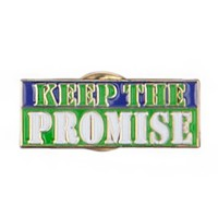 Pin and Badge - Green Keep the Promise Lapel Pin