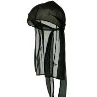 Wrap - Black Kid's Satin Durag