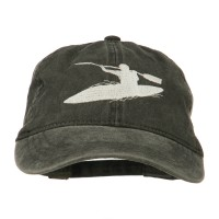 Embroidered Cap - Black Sports Kayak Embroidered Dyed Cap   Coupon Free   e4Hats.com