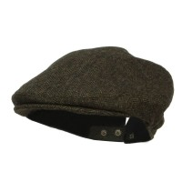 Ivy - Green Men's Adjustable Wool Ivy Cap