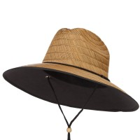 Outdoor - Brown Straw Braid Lifeguard Sun Hat