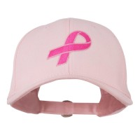 Embroidered Cap - Pink Ribbon Breast Cancer Embroidered Cap