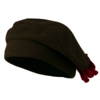 Beret - Brown Ladies Bow Fleece Beret