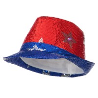 Costume - Lite Up Fedora Silver Stars | Free Shipping | e4Hats.com