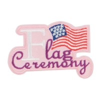 Patch - Pink USA Flag Ceremony Embroidered Patches