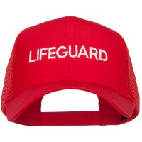 Embroidered Cap - Lifeguard Embroidered Mesh Cap
