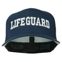 Embroidered Cap - Life Guard Embroidered Mesh Cap | Free Shipping | e4Hats.com
