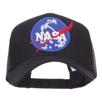 Embroidered Cap - Black Lunar NASA Patched Mesh Cap