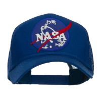 Embroidered Cap - Royal Lunar NASA Patched Mesh Cap