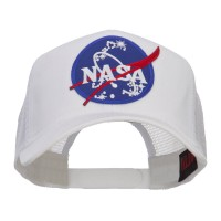 Embroidered Cap - White Lunar NASA Patched Mesh Cap